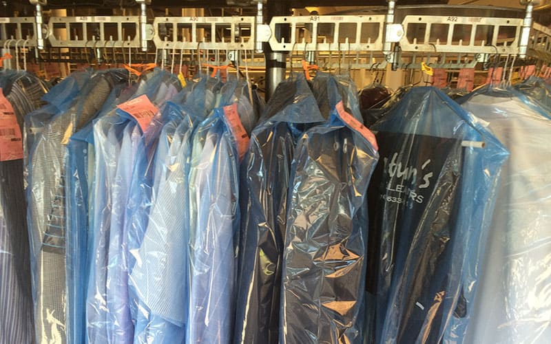 Dry Cleaners on Rack